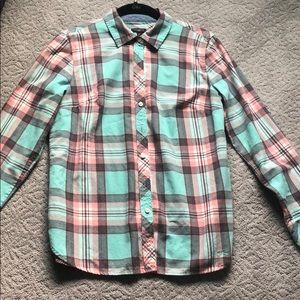EUC Talbots Petite Women's Flannel Top